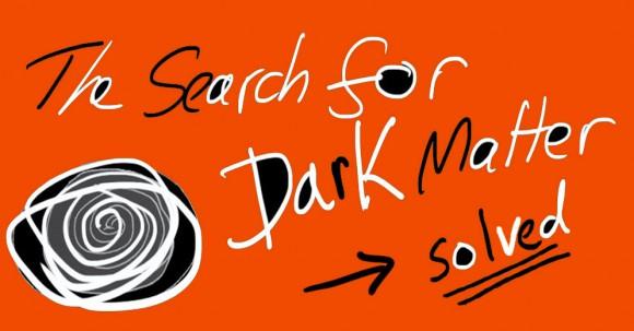 header saying search dark matter