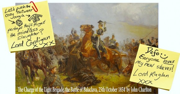 Charge of the Light Brigade with post it notes