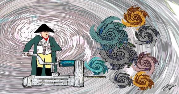 Mr Mayhem and his entropy machine